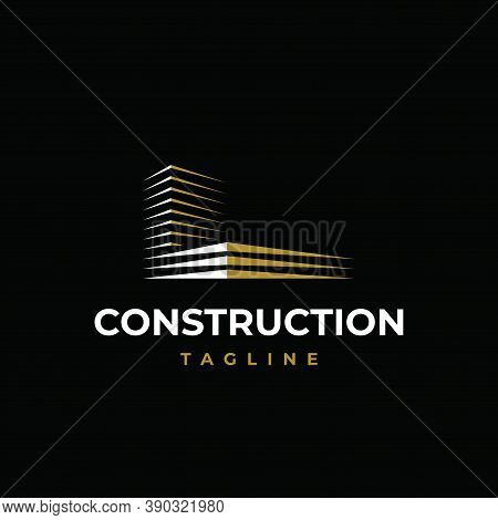 Letter L Logo Design Vector Template.building With Initial L Shape