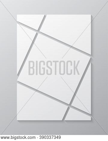 Vector Template Collage Seven Frames, Images Photo