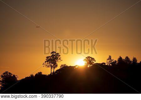Beautiful Scenic Northern California Sunrise In Belmont, California