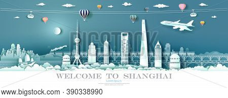 Tour Landmark Downtown Shanghai With Urban Skyscraper, Travel Cityscape Skyline And Architecture Asi