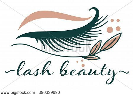 Lash Beauty Studio Procedures For Eyelashes Extension Vector