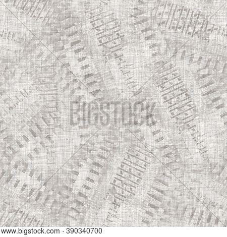 Seamless Light Grey Woven Collage Linen Texture Background. Flax Hemp Fiber Natural Pattern. Organic