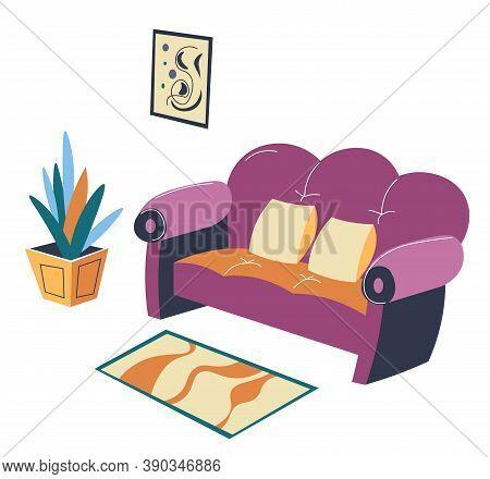 Living Room Or Lounge Interior Design, Scandinavian Loft