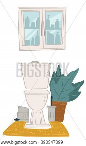 Bathroom Interior Design, Toiled And Cabinet For Storing