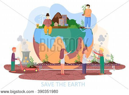 Production Of Plants And Planting Them On Ground. Shortage Of Plants And Their Artificial Cultivatio