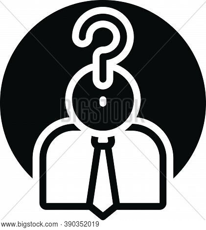 Black Solid Icon For Who Guess People Profile Question Anonymous Suspicious Anybody