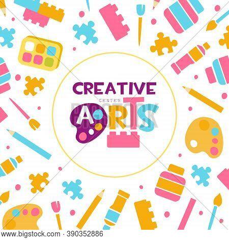 Creative Arts Banner Template, Kids Education, Art, Craft, Creativity Class, School Design, Art Supp