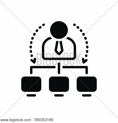 Black Solid Icon For Administrator Ceo Colleagues Controller Viceroy Executive Business Corporate
