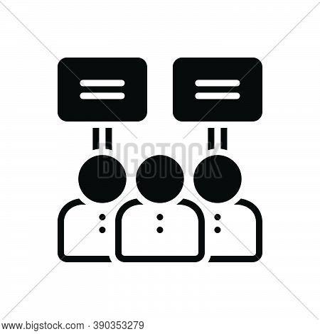 Black Solid Icon For Demonstration Horde Confraternity Manifestation Testimony Billboard Sloganeerin