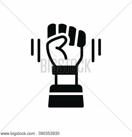 Black Solid Icon For Opposition Sloganeering Protest Antagonism Friction Fight Freedom Hindrance Int