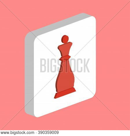 Chess Queen Simple Vector Icon. Illustration Symbol Design Template For Web Mobile Ui Element. Perfe