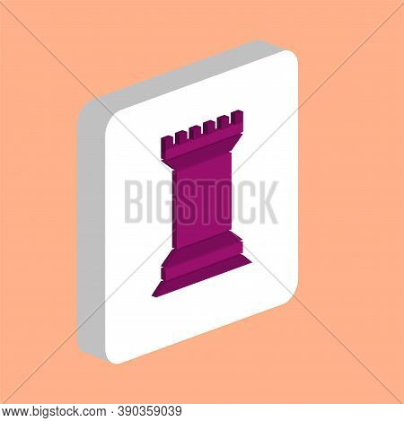 Chess Rook Simple Vector Icon. Illustration Symbol Design Template For Web Mobile Ui Element. Perfec