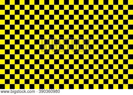 Taxi Pattern. Black-yellow Checkerboard. Background Of Taxi In New York. Cab For City. Vintage Check