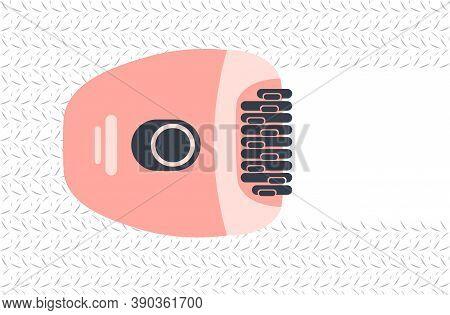 Electric Epilator Hair Removal Methods Concept Epilation And Depilation Instrument Horizontal Vector