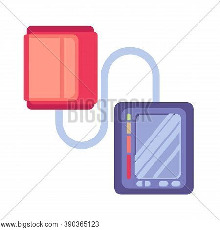 Medical Electronic Tonometer Flat Icon, Vector Sign, Blood Pressure Measuring Colorful Pictogram Iso