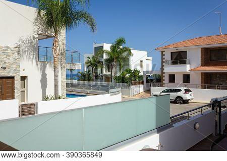 Cyprus, Protaras, Vacation. Luxurious Villa With Swimming Pool And Jacuzzi. Villa Protaras. White Bu