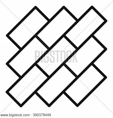 Street Line Paving Icon. Outline Street Line Paving Vector Icon For Web Design Isolated On White Bac