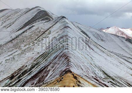 Rainbow Mountains Or Vinicunca Montana De Siete Colores, Cuzco Region In Peru, Peruvian Andes