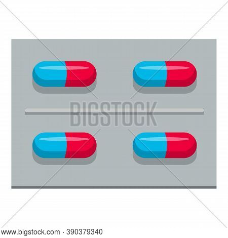 Medicinal Capsules Icon. Cartoon Of Medicinal Capsules Vector Icon For Web Design Isolated On White