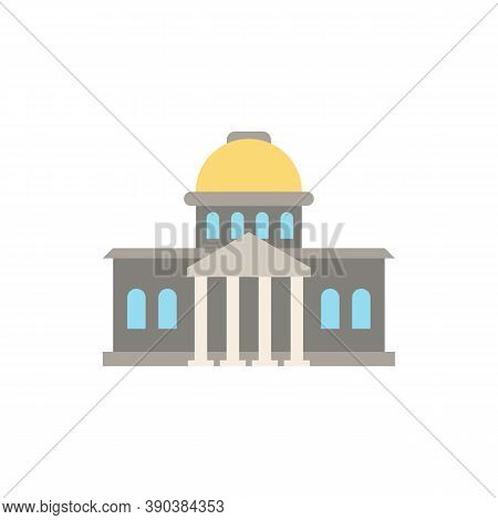 Government Icon. Simple Element From Buildings Collection. Creative Government Icon For Web Design,