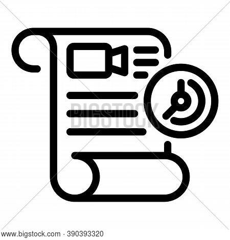 Film Scenario Icon. Outline Film Scenario Vector Icon For Web Design Isolated On White Background