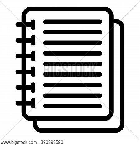Notebook Scenario Icon. Outline Notebook Scenario Vector Icon For Web Design Isolated On White Backg