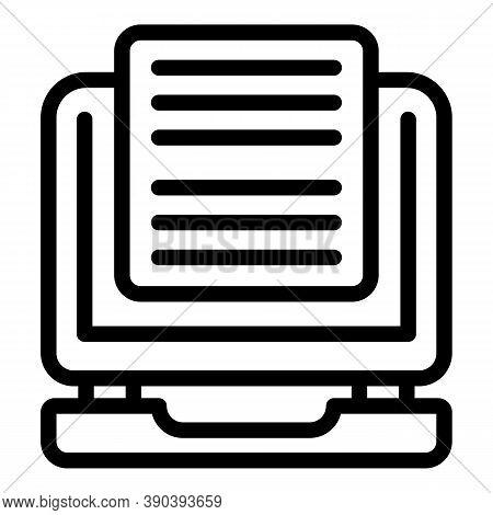 Plan Scenario Icon. Outline Plan Scenario Vector Icon For Web Design Isolated On White Background