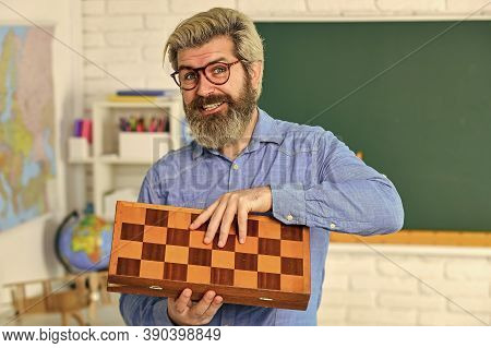 Work Well Under Stress. Logic Game For Brain Development. Chess In Classroom. Game Strategy Analysis