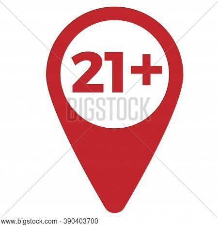 Red Drop Icon Pointer With Age Limit 21