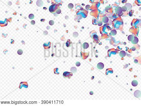 Hologram Bubble Hipster Vector Transparent Background. Geometric Bubbles Illustration. Neon Minimal