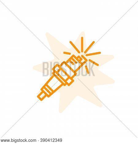 Spark Plug Icon Vector Design Template