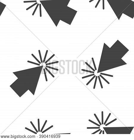 Arrow, The Cursor Pointing To The Point. The Cursor Clicks Seamless Pattern On A White Background.