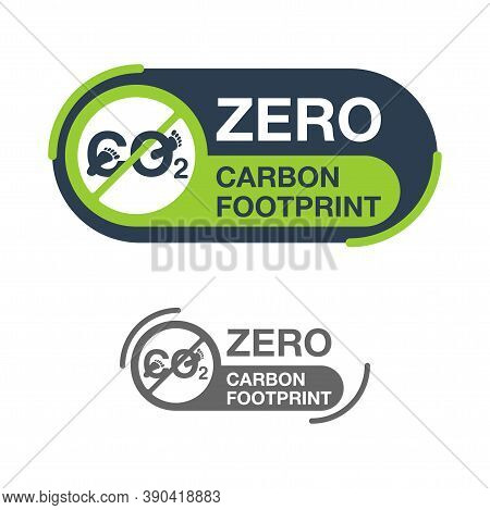 Co2 Neutral Zero Carbon Footprint Stamp - Carbon Emissions Free (no Air Atmosphere Pollution) - Stic