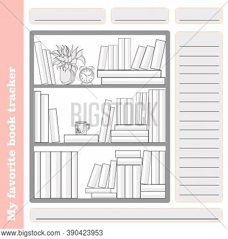 Monthly Habit Empty Tracker Template. Reading. Familiar Tracker. The Books That Are Read. List Of Li
