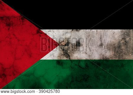 Grunge Of Palestine Flag, Flag Palestine Dirty