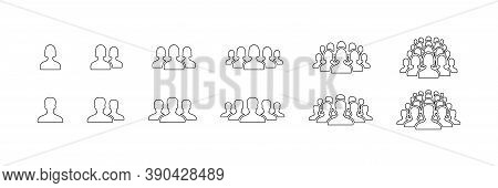 People Icons. People Vector Icons, Isolated. People In Line Design. Man And Woman. Business Persons