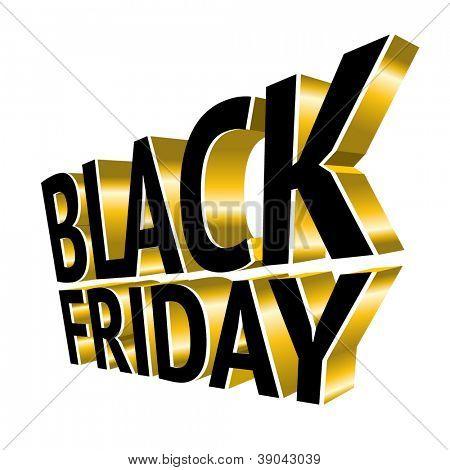 Black Friday 3d gold text