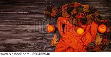Orange Autumn Clothes. Autumn Arrives. Lady Clothes Outfit. Fall Fashionable Mood. Halloween Autumna