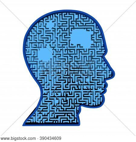 Concept Of Memory Loss And Dementia Disease And Losing Brain Function Memories As An Alzheimers Heal