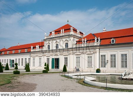 Vienna, Austria - July 30, 2019: View Of Lower Belvedere Palace, Side View From Belvedere Garden