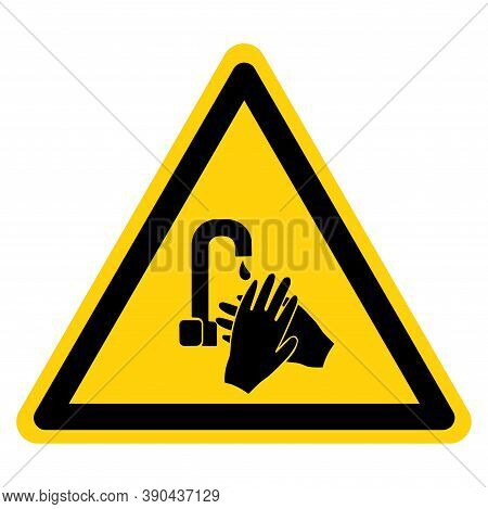 Notice Wash Your Hand Symbol Sign,vector Illustration, Isolated On White Background Label. Eps10