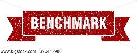 Benchmark Ribbon. Benchmark Grunge Band Sign. Banner
