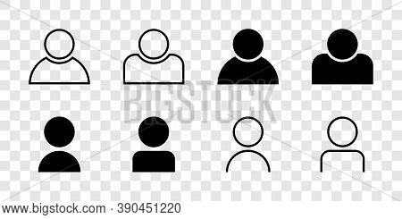 People Vector Icons. Person. Avatar Icons. User Icon, Isolated. Person In Line Flat Design. Vector I