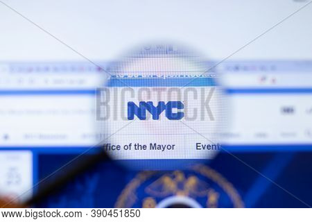 New York, Usa - 29 September 2020: Nyc Nyc.gov Company Website With Logo Close Up, Illustrative Edit