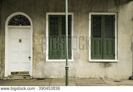 Architecture Of The French Quarter In New Orleans, Louisiana.