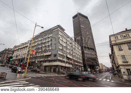 Belgrade, Serbia - January 20, 2019: Beogradjanka Tower, Also Called Palata Beograd, Or Belgrade Pal