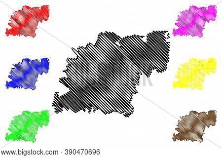 Caxias Do Sul City (federative Republic Of Brazil, Rio Grande Do Sul State) Map Vector Illustration,