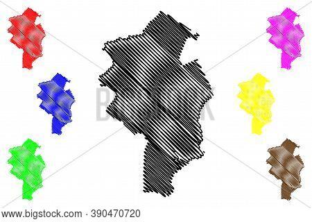 Duque De Caxias City (federative Republic Of Brazil, Rio De Janeiro State) Map Vector Illustration,