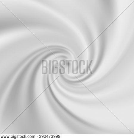 Abstract Grey Liquid Flowing Elegant Waves Graphic Design. Smooth White Silk Wavy Background.