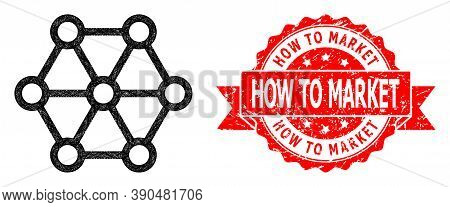 Network Link System Icon, And How To Market Corroded Ribbon Seal. Red Stamp Seal Includes How To Mar